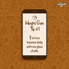 Bananas are a great source of calorie and also help in gaining weight efficiently. Have bananas alongside Accumass for natural and effective weight gain.              #Accumass #WeightGain #WeightGainTip #WeightGainer #StayFit #StayHealthy #AyurvedicWeightGainer Weight Gain Plan, Weight Gain Journey, Healthy Body Weight, Healthy Fats, Weight Gain Supplements, Good Sources Of Protein, Nutritious Breakfast, Stay Fit, How To Stay Healthy
