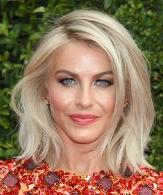 Julianne Hough Bob Hairstyle. Try on this hairstyle and view styling steps!  http://www.thehairstyler.com/hairstyles/casual/medium/straight/Julianne-Hough-blonde-side-parted-hairstyle