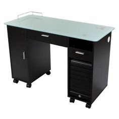 """""""Superb"""" Black Manicure Nail Table Station * Check out the image by visiting the link."""