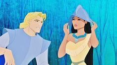 How could Pocahontas communicate with John Smith if he was the first English man she'd met? Pocahontas Disney, Disney Amor, Disney Love, Disney Magic, Disney Pixar, Walt Disney, Disney Characters, Disney Stuff, Disney Princesses