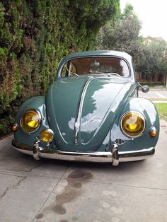 Visit The MACHINE Shop Café... ❤ Best of VW @ MACHINE ❤ (1957 Oval Ragtop VW Beetle)