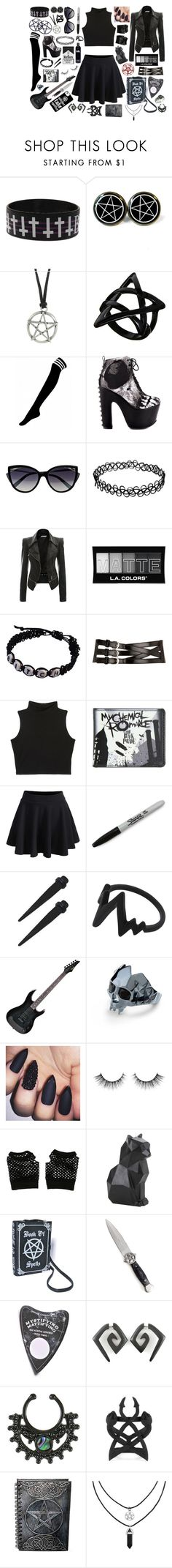 """""""Weekend clothes"""" by frankie-and-gee ❤ liked on Polyvore featuring Hot Topic, Killstar, ASOS, Iron Fist, La Perla, L.A. Colors, Dorothy Perkins, WithChic, Sharpie and R2"""