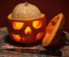 This Skillfully Carved Jack-O'-Lantern Lets You Perform Experimental Pumpkin Brain Surgery « Halloween Ideas