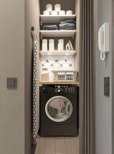 """Exceptional """"laundry room storage diy shelves"""" info is offered on our internet site. Check it out and you wont be sorry you did. Tiny Laundry Rooms, Laundry Closet, Laundry Room Organization, Laundry Room Design, Bathroom Storage, Bathroom Cupboards, Bathroom Small, Kitchen Small, Small Room Design"""