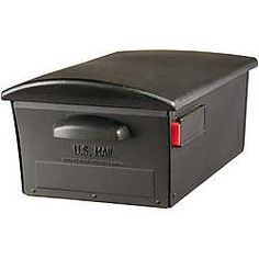 Gibraltar Industries Large Size Black Lockable Curbside Mailbox OSH