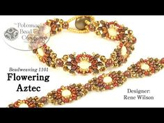 Flowering Aztec Bracelet - YouTube, all supplies from Potomac Bead Company (www.potomacbeads.com)