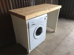 Pine Double Appliance Tumble Dryer Washing Machine Cover Utility Laundry Room