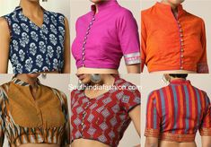 blouse designs Here are some trendy readymade cotton blouses that you can shop online to team up with your cotton sarees. Saree Jacket Designs, Blouse Designs High Neck, Cotton Saree Blouse Designs, Choli Blouse Design, Simple Blouse Designs, Stylish Blouse Design, Blouse Patterns, Designer Salwar Kameez, Traditional Blouse Designs