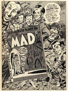 ryallsfiles: E. Comics house ad for the premiere of Mad Magazine by Jack Davis Comic Books Art, Comic Art, Book Art, Arrow Black Canary, Jack Davis, Ec Comics, Mad Magazine, Magazine Covers, Mad World