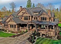 Craftsman Bungalow House Plans, Ranch House Plans, Craftsman Bungalows, New House Plans, Craftsman Exterior, Modern Craftsman, Home Garden Design, House Design, Vaulted Living Rooms