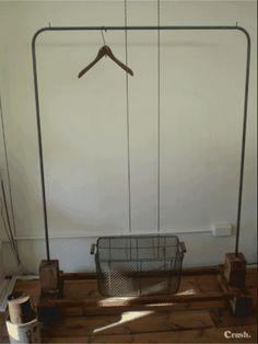 アンティーク アイアン 味のあるハンガーラック 古木 店舗 インテリア 雑貨 家具 Antique wood hanger ¥35700yen 〆05月10日