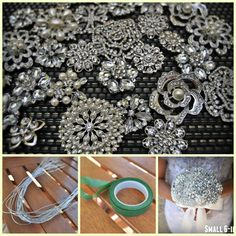 DIY Brooch Bouquet Kit  35 Pieces SMALL by BluePetyl on Etsy, $110.00