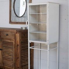 Metal Vintage Nurse's Cabinet