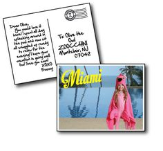 Franny the Flamingo enjoys her time in Miami! #Zoocchini #HoodedTowels #Kids #Towels #SummerCamp #KidsFashion