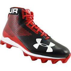 Under Armour Hammer Mid Rubber Molded Football Cleats - Mens Black White Rogan's Shoes, Mens Football Cleats, Black And White Man, Under Armour, Sneakers, Tennis, Slippers, Sneaker, Shoes Sneakers