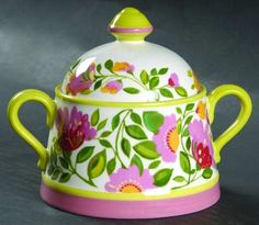 Your Favorite Brands Summer in Bloom Sugar Bowl & Lid