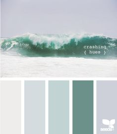 "11 peaceful paint palettes inspired by the seaBabyCenter Blog | ""Crashing"" for bathroom"