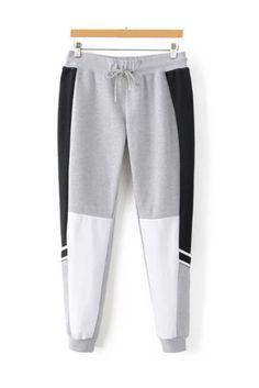 Grey Black Drawstring Jogger Pants – Men's style, accessories, mens fashion trends 2020 Boys Joggers, Joggers Outfit, Joggers Womens, Jogger Pants, Sweatpants, Knit Pants, Dress Pants, Track Pants Mens, Drawstring Pants