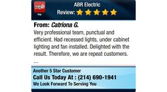 Very professional team, punctual and efficient. Had recessed lights, under cabinet...