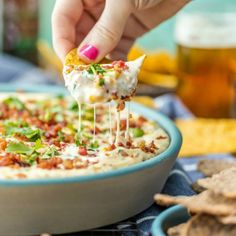 HOT CORN AND BACON BEER CHEESE DIP! The perfect appetizer for entertaining. Perfect for any party of tailgating! Pat loves most of the foods I make…but to be honest, some. Corn Dip Recipes, Cheese Dip Recipes, Easy Appetizer Recipes, Beer Dip, Super Bowl, Hot Corn Dip, Cooking With Beer, Beer Cheese, Snacks