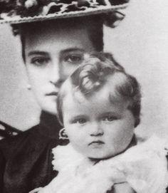 Empress Alexandra Fyodorovna and Grand Duchess Olga Nikolaevna