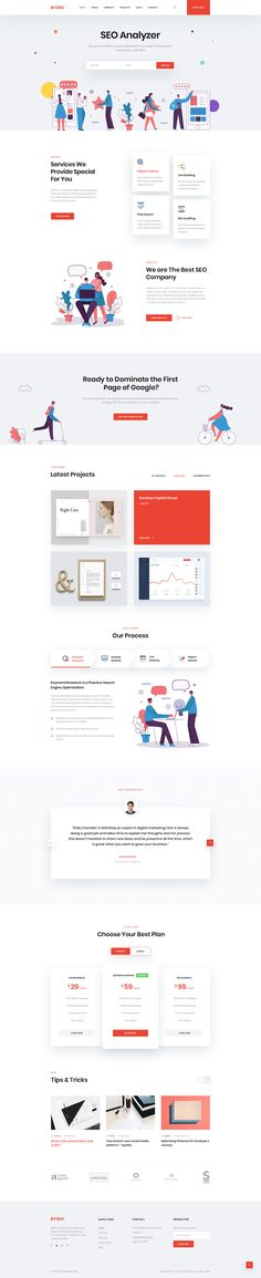 Buy Boseo - SEO & Digital Marketing PSD Template by CarrotLabs on ThemeForest. Boseo is super powerful SEO agency PSD Template. It's suitable with many kind of business such as SEO Agency, Online . Cool Web Design, Web Ui Design, Web Design Trends, Flat Design, Modern Design, Design Ideas, Website Layout, Web Layout, Layout Design