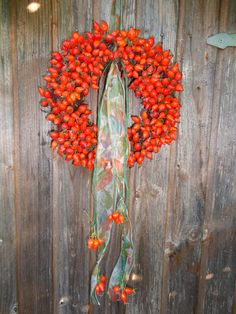 Rose hip wreath made by me!