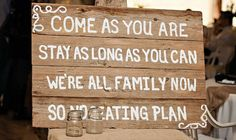 We are all family now! http://www.countryoutfitter.com/style/real-country-wedding-sydney-warren/