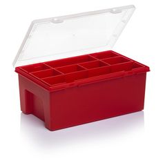 Wilko Utility Box Small 29x28x18cm remove lids and store brushes pens and scissors etc £5