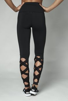 dffa706f241b43 Black High Waisted Lace up Black Leggings Black Leggings, Leggings Are Not  Pants, Workout