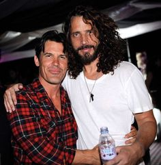 Josh Brolin came out to surprise Soundgarden's Chris Cornell at his Birthday Party at The Forum in LA. Chris Cornell, Gabrielle Union, Amy Poehler, Justin Bieber, Say Hello To Heaven, Josh Brolin, Temple Of The Dog, Riot Grrrl, Hollywood Actresses