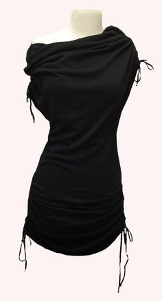 Black sweater dress - wear with skinny jeans and boots.