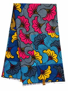 Blue Pink Yellow African fabric per yard African fashion Nigerian style Ghanaian fashion African women dresses African print fabric by yard by Shopafrican on Etsy African Dresses For Women, African Wear, African Women, African Textiles, African Fabric, African Patterns, Ghanaian Fashion, African Print Fashion, African Prints