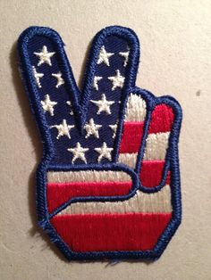 VINTAGE 1960s, Embroidered Peace Sew-on Patch..