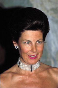 Princess Marie of Liechtenstein wears pearl collar