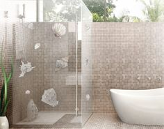 fliesenbild künstlerische flora ii #fliesenbild #traumurlaub #bad ... - Wandgestaltung Im Badezimmer