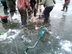 Отчет о зимней рыбалке. Крупный сом