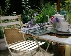 Perfect spot for tea - the garden. (the fisherman's cottage)