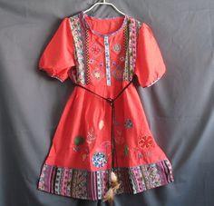 Hippie Short Dress/ Tunic Dress Women Tank Top Costume Shirt Blouse Floral Kaftan Caftan