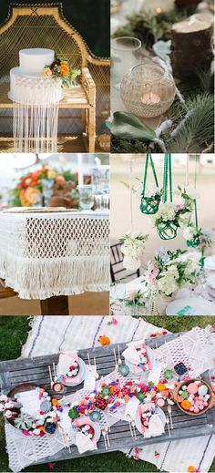 unique boho wedding ideas with macrame details