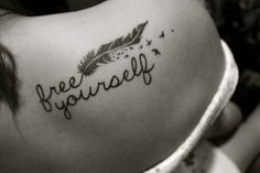 #feather #shoulder #tattoo #freeyourself #birds