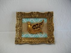Recycled Art Elegant Ornate Gold Frame with by CarlaRaeVintage, $8.00