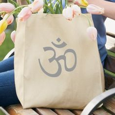Amazon.com: AUM Symbol 100% Organic Cotton Grocery Tote Bag: Clothing