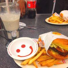 Johnny Rockets Had a burger and Oreo shake