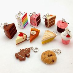 Check out what Punky found: Polymer Clay Jewelry - # found . See What Punky Found: Polymer Clay Jewelry – – Polymer Clay Cake, Polymer Clay Kunst, Polymer Clay Kawaii, Polymer Clay Miniatures, Fimo Clay, Polymer Clay Projects, Polymer Clay Charms, Polymer Clay Creations, Polymer Clay Jewelry