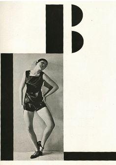 Typography & photomontage by Karel Teige, 1926, Pantomima, Dances performed by Milča Mayerová, Prague. #Czech_Avant_Garde