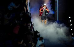 LONDON, ENGLAND - NOVEMBER 13: Kei Nishikori of Japan enters the court for the round robin singles match againstKei Nishikori of Japan on day five of the Barclays ATP World Tour Finals at O2 Arena on November 13, 2014 in London, England.