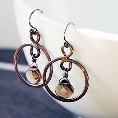 Copper hoops with sm
