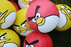 angry birds birthday party theme - life size angry birds game!