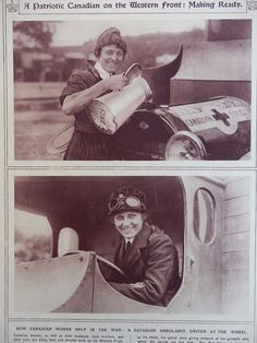 1917 PATRIOTIC CANADIAN WOMAN VAD AMBULANCE DRIVER CANADIAN RED CROSS WWI WW1 | eBay